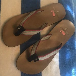 Vineyard vines ribbon flip flops